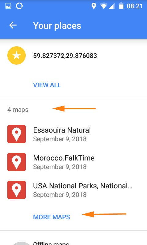 Google Maps application
