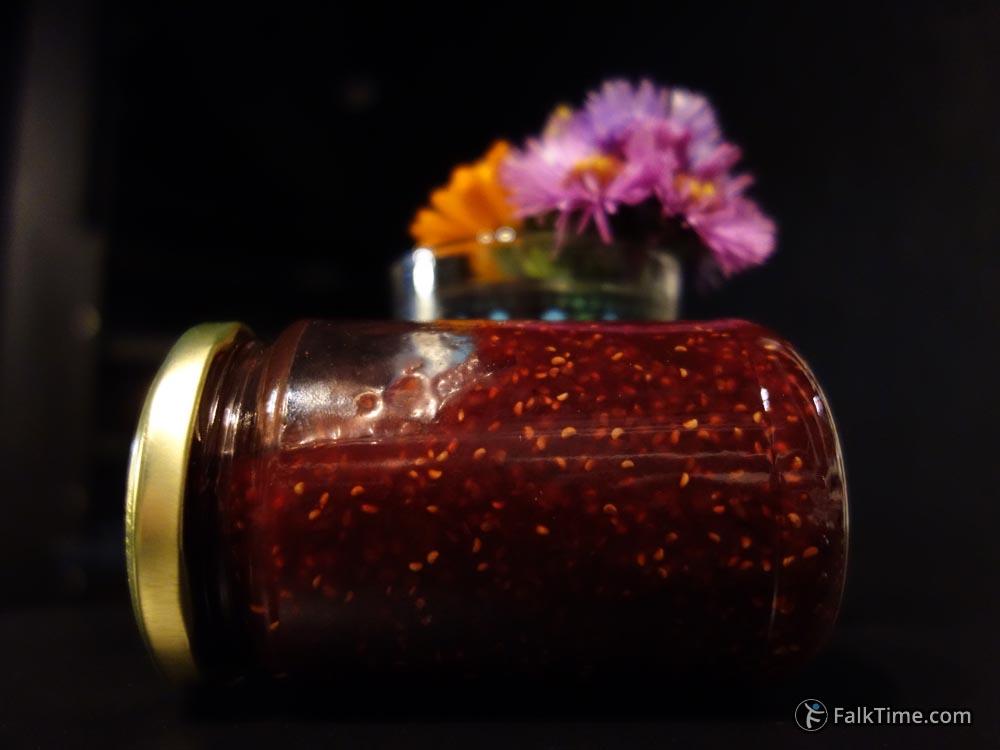 Russian liquid raspberry jam