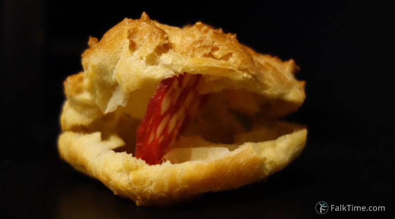 Hollow choux pastry, recipe