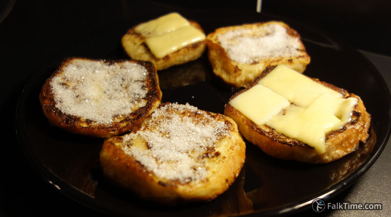 Recipe of French toasts