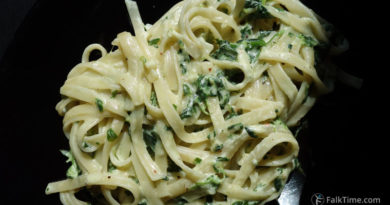 One pot pasta with spinach, recipe