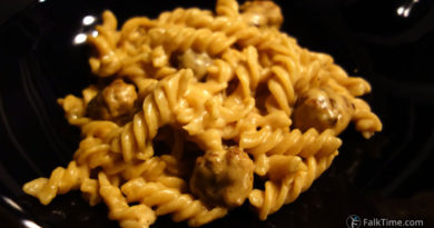 Mustard sauce one pan pasta recipe