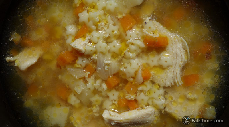 Quick and easy chicken soup, recipe