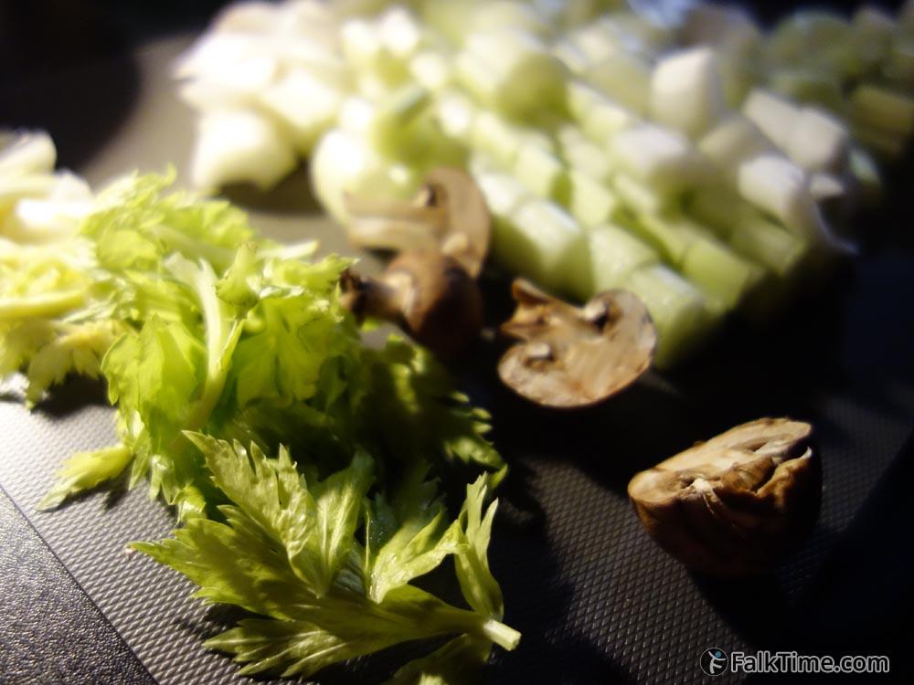 Celery & champignons