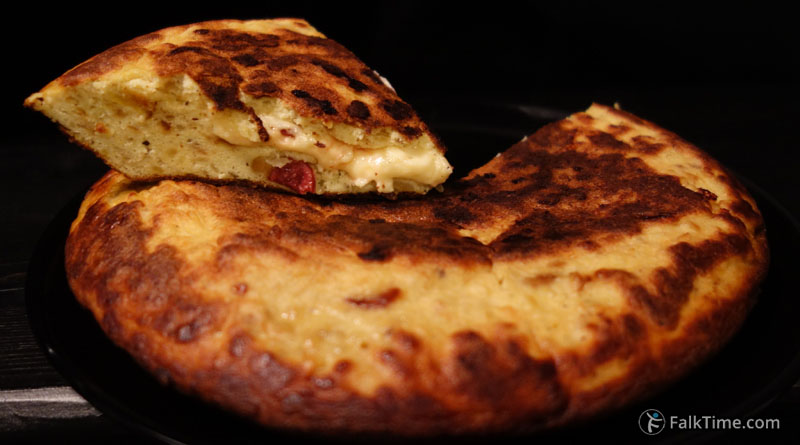 Recipe of tortilla stuffed with cheese