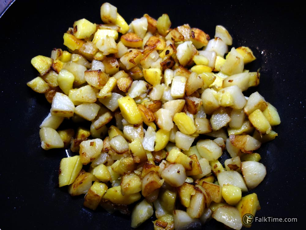 Fried vegetables for tortilla