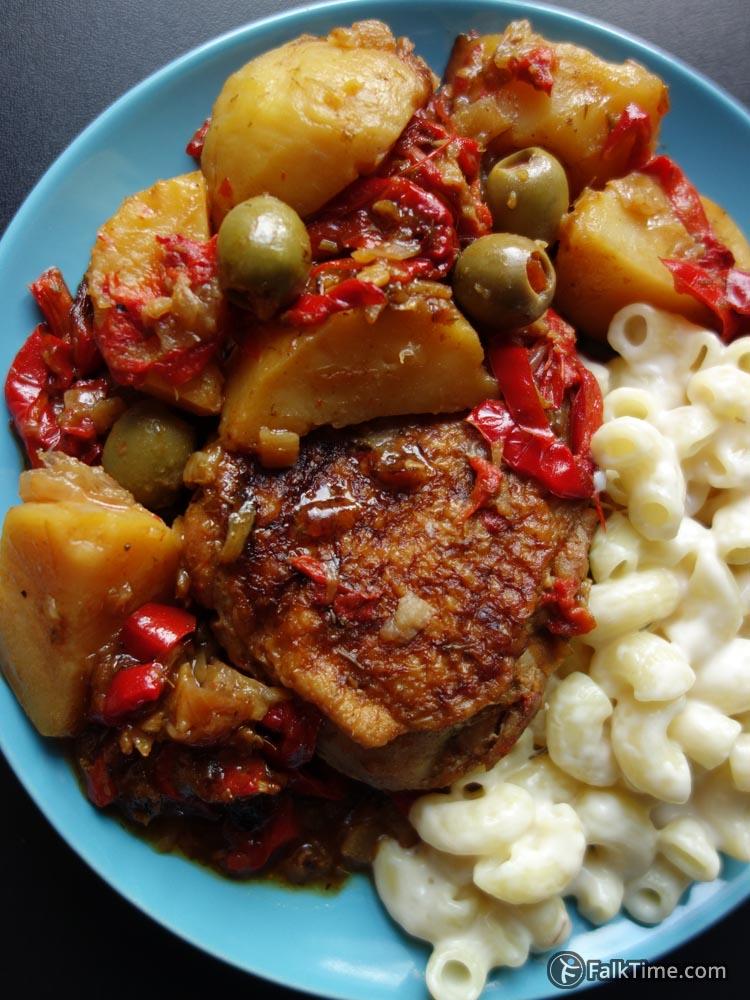 Moroccan stewed chicken recipe