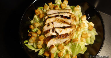 Caesar salad with tender chcken breast fillet, recipe