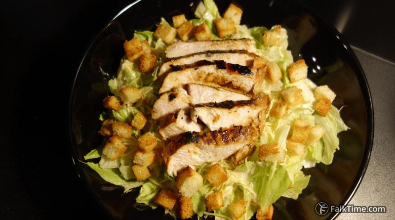 Caesar salad with tender chcken breast fillet, recipe