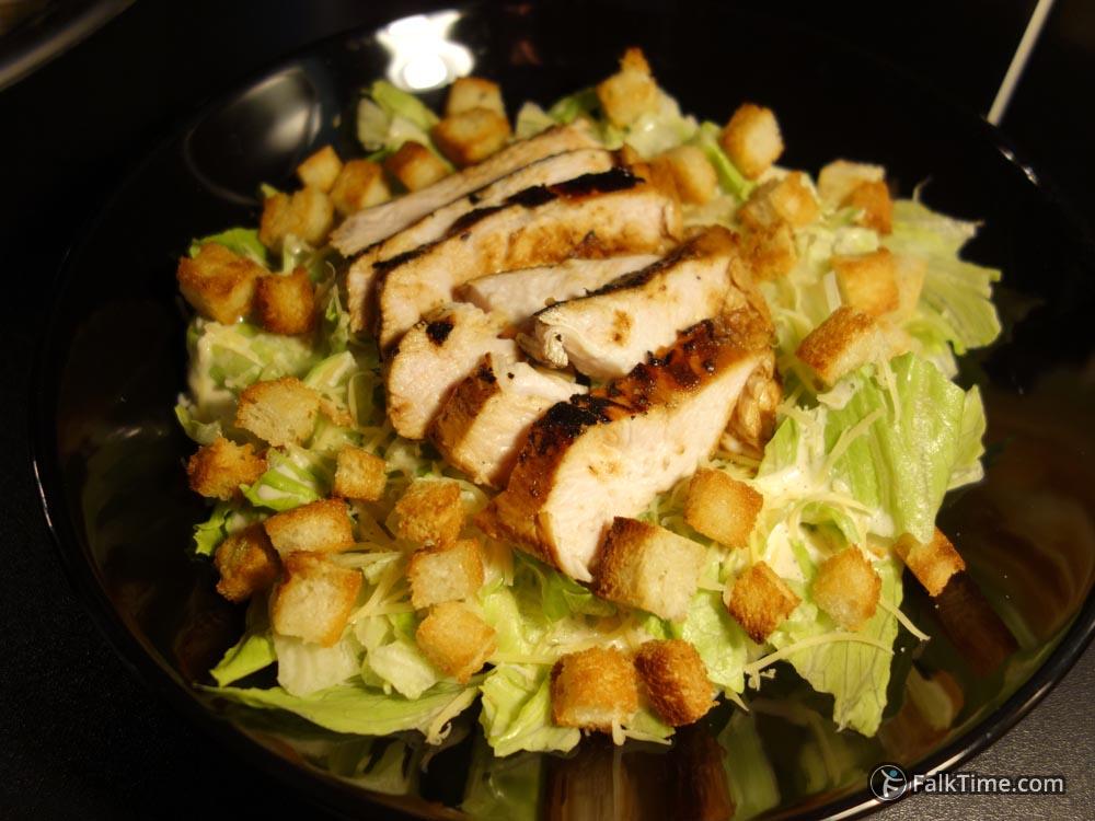 Caesar salad with chcken breast fillet