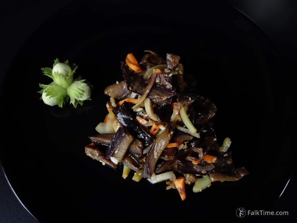 Korean eggplant salad, recipe