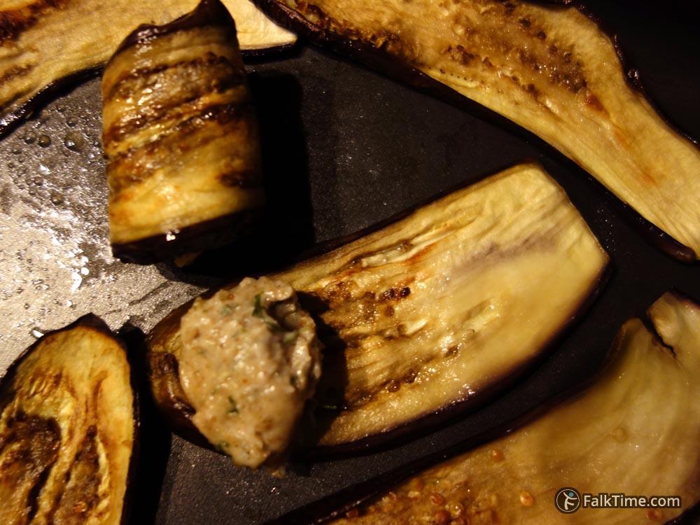 Stuffing eggplants