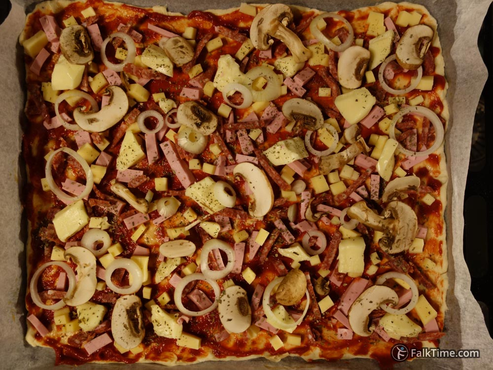 Pizza before baking
